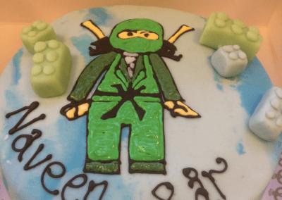 Lego Ninja fødselsdagskage