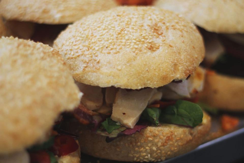 Frisksmurt sandwich med kylling